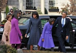 Gia đình ông Obama bắt đầu ngày 21/1 với việc đi lễ nhà thờ St.John ở Washington