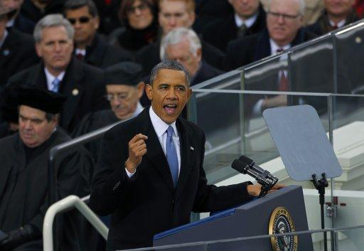 Ông Obama đọc diễn văn sau khi tuyên thệ