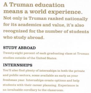 Du học và nhận học bổng từ Đại học Truman State, Mỹ