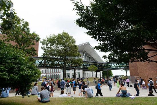 Một góc khuôn viên trường UMass – Boston